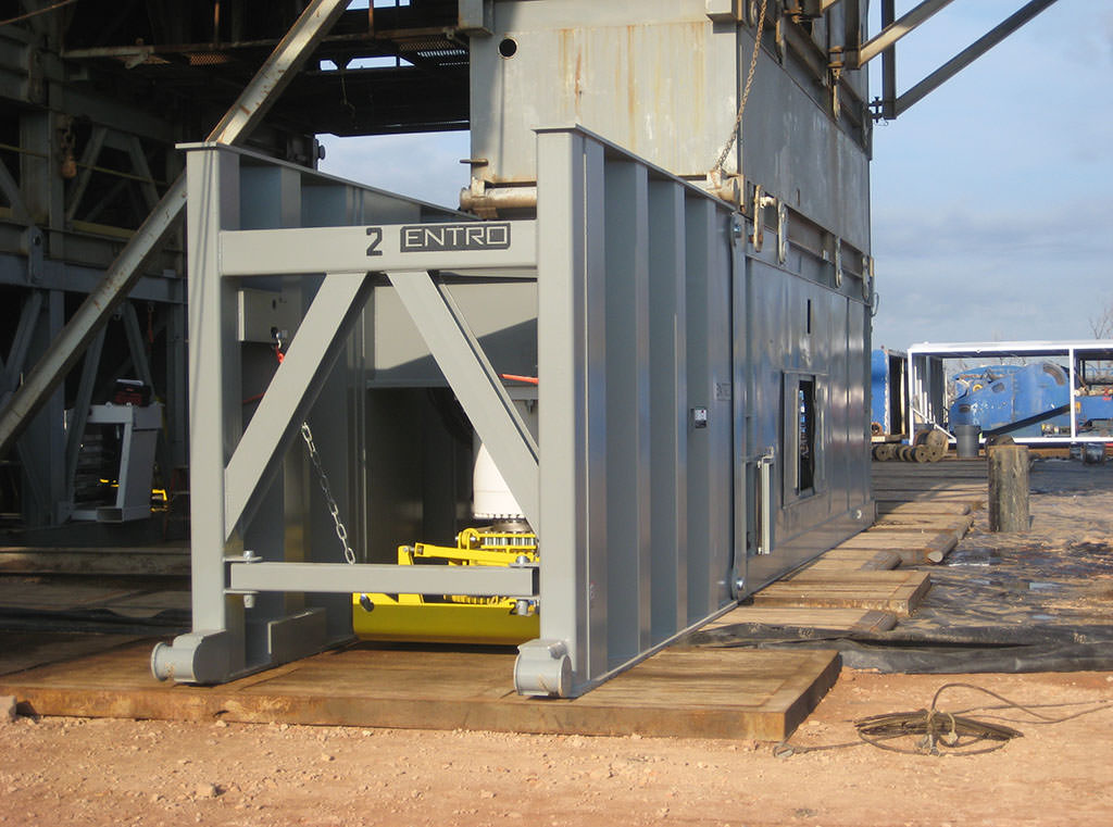 Entro Rig Walking Systems can move oil rigs without costly and dangerous disassembly