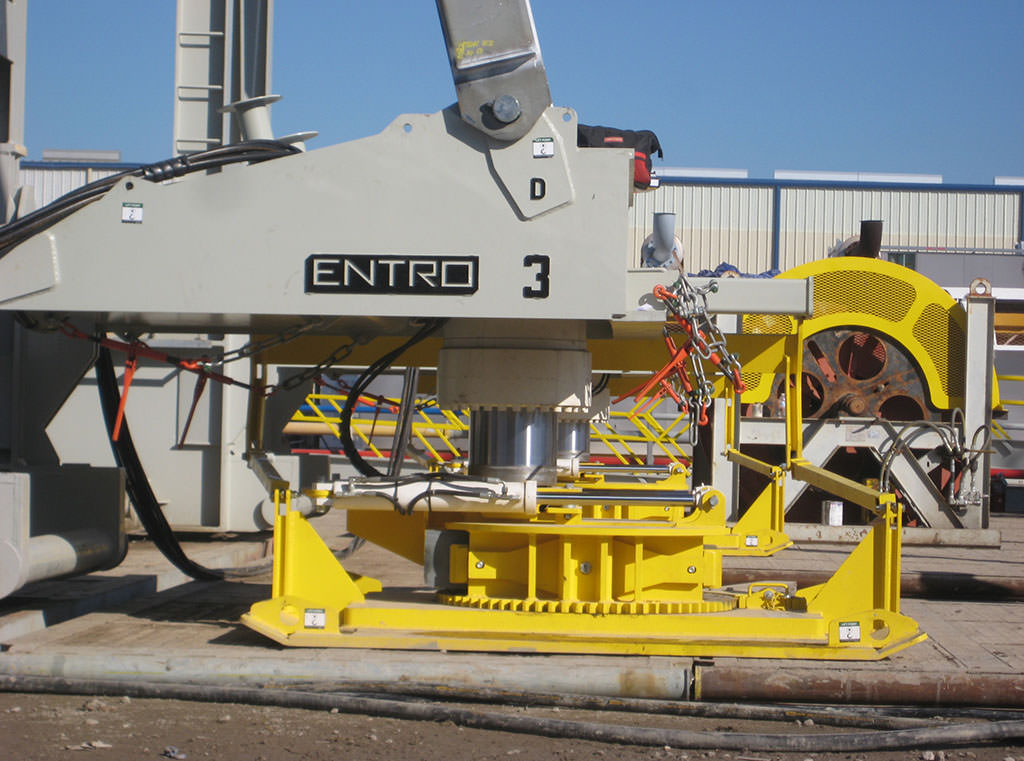 Entro Rig Walking Systems can move and maneuver oil drilling rigs without disassembly